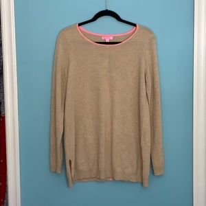 Lilly Pulitzer cashmere tan sweater